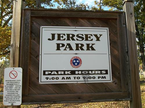 Jersey Park Sign