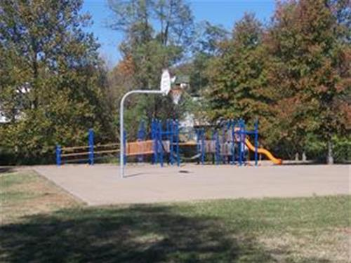 Playground and Basketball Goal in Park